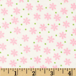 Cozy Cotton Flannel Floral Pink Fabric