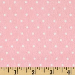 Cozy Cotton Flannel Mini Dots Rose Fabric
