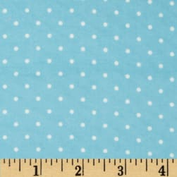 Cozy Cotton Flannel Mini Dots Aqua