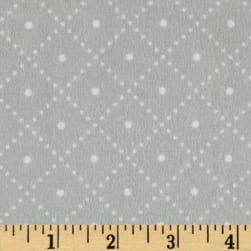 Cozy Cotton Flannel Argyle Grey Fabric