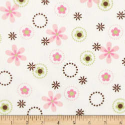 Cozy Cotton Flannel Multi Floral Garden Fabric