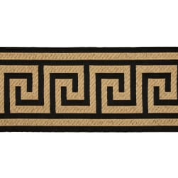 6'' Woven Home Decor Greek Key Tape Black