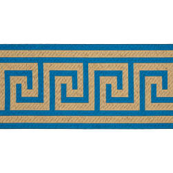 6'' Woven Home Decor Greek Key Tape Teal