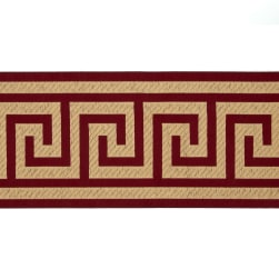 "6"" Woven Home Decor Greek Key Tape Wine Red"