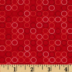 Spot On Circle In A Line Red Fabric