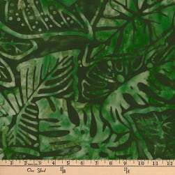 Artisan Batiks Totally Tropical Fern Leaves Palm Fabric