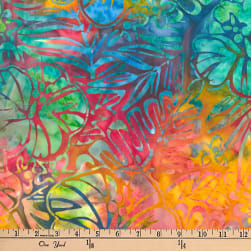 Kaufman Artisan Batiks Totally Tropical Ferns & Flowers Tropical