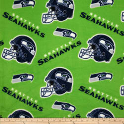 NFL Fleece Seattle Seahawks Tossed Helmets Fabric