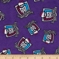 Monster High Flannel Crest Toss Furrocious Purple Fabric