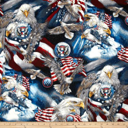 Patriots Eagles Americana Fabric