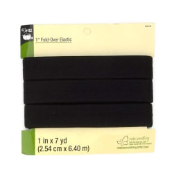 "Fold-Over Elastic 1""X7yd-Black"