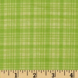 Comfy Flannel Plaid Tone on Tone Green Fabric