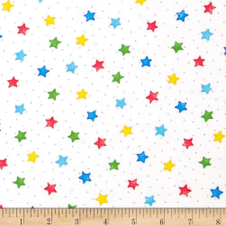 Comfy Flannel Stars White/Primary Fabric