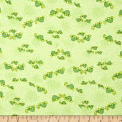 Comfy Flannel Turtle Family Green Fabric