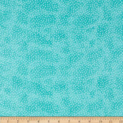 Comfy Flannel Micro Dot Aqua Fabric