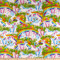 Timeless Treasures Rainbows & Unicorns Multi Fabric