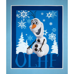 Disney Frozen Olaf Panel Blue Fabric