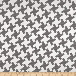 Starlight Satin Houndstooth Ebony
