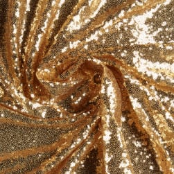 Glam Sequin & Mesh Gold Fabric