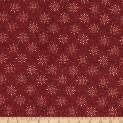 "108"" Quilt Backing Pairie Vine Red"