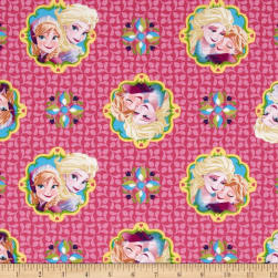 Disney Frozen Sisters Forever Pink Fabric