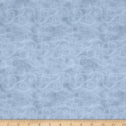 "108"" Wide Quilt Back Flannel Swirly Scroll Gray"