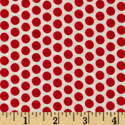 Basic Training Medium Dot White/Red Fabric