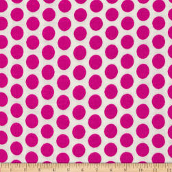 Basic Training Medium Dot White/Fuchsia Fabric