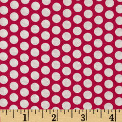 Basic Training Medium Dot Fuchsia/White