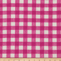 Basic Training Gingham Fuchsia/White Fabric