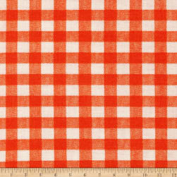 Basic Training Gingham Orange/White