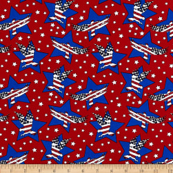 Made in the USA Eagles & Stars Red