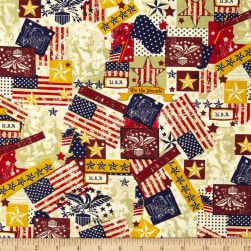 Made in the USA Antique Flags Red, White,