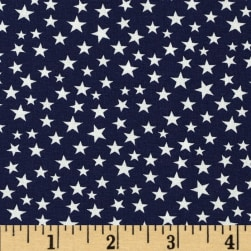 Made in the USA Stars White/Navy Fabric