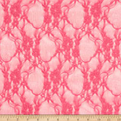 Stretch Floral Lace Hot Pink