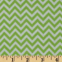 Dreamland Flannel Chic Chevron Green Apple
