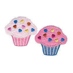 Wrights Iron On Appliques 2/Pkg Cupcakes