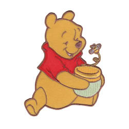 Disney Winnie The Pooh Iron On Applique Pooh, Honey Pot & Bee