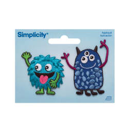 Simplicity Iron On Appliques 2/Pkg Friendly Monsters