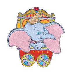 Disney Dumbo Iron On Applique Dumbo In Red