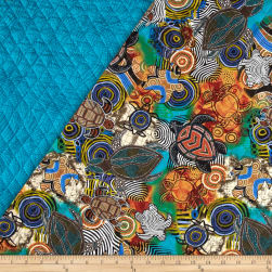 Calypso Sea Turtles Quilted Turtles Multi Fabric