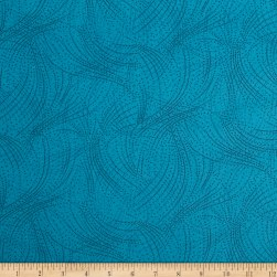 Sea Turtles Dots Turquoise Fabric