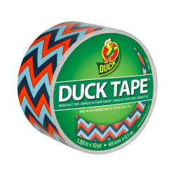 "Patterned Duck Tape 1.88"" x 10yd-Blue Chevron"