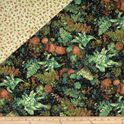 Falls Canvas Double Sided Quilted Potpurri Black
