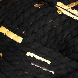 Lion Brand Yarn Gold Leaf Black Gold