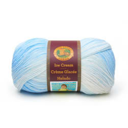 Lion Brand Yarn Ice Cream Blueberry