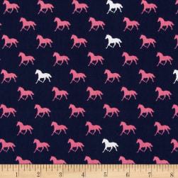 Riley Blake Derby Horses Navy