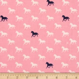 Riley Blake Derby Horses Pink Fabric