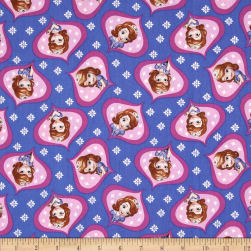 Disney Sofia the First Sofie Ogee Lavender Fabric
