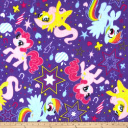 Hasbro My Little Pony Traditional Fleece Pony Cutie Power Toss Purple Fabric